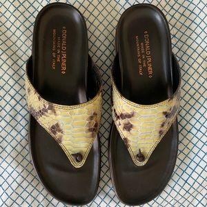 Donald J. Pliner Patent Leather Sandals